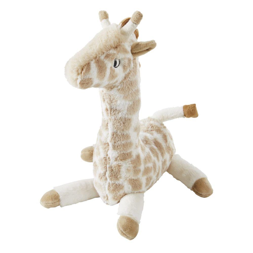 Peluche Girafe Marron Et Beige
