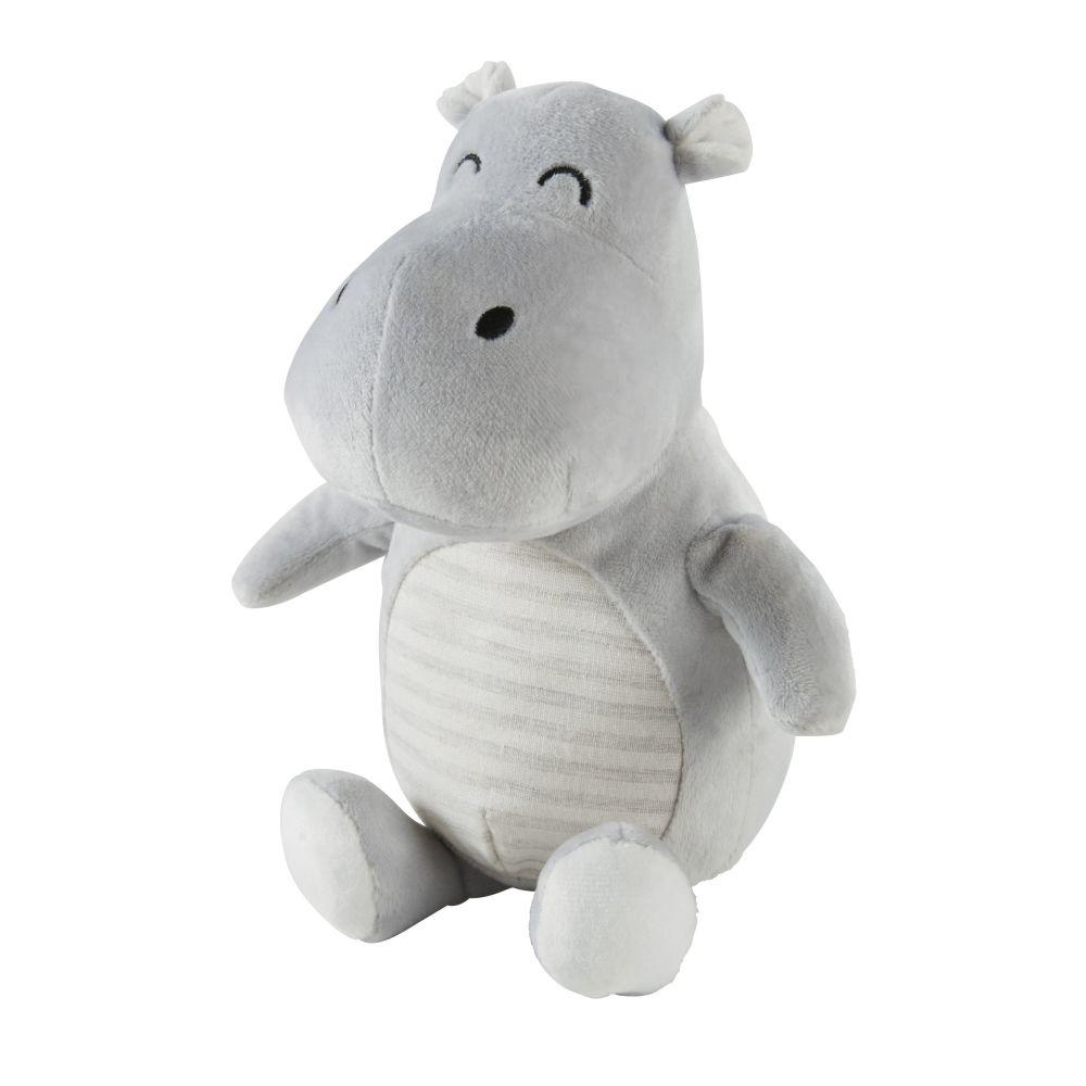 Peluche hippopotame grise