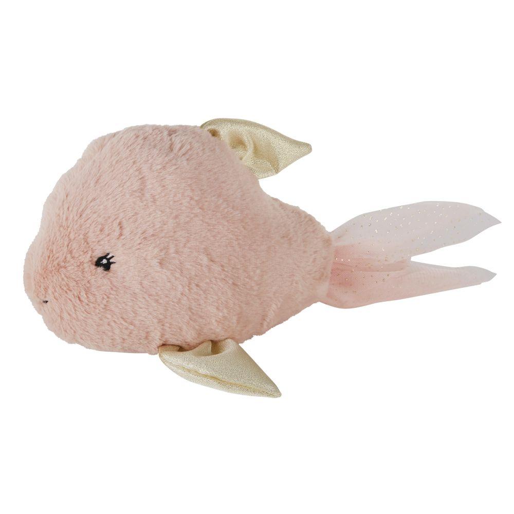 Peluche poisson rose et dorée