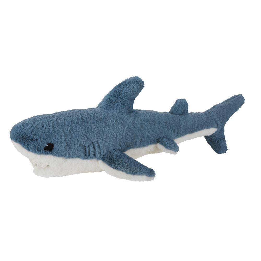 Peluche requin bleue et blanche