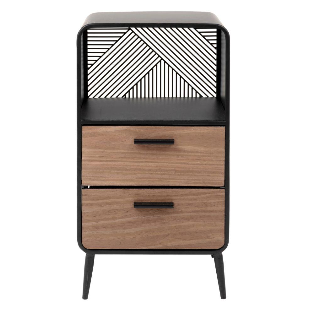 Petit meuble de rangement 1 niche 2 tiroirs