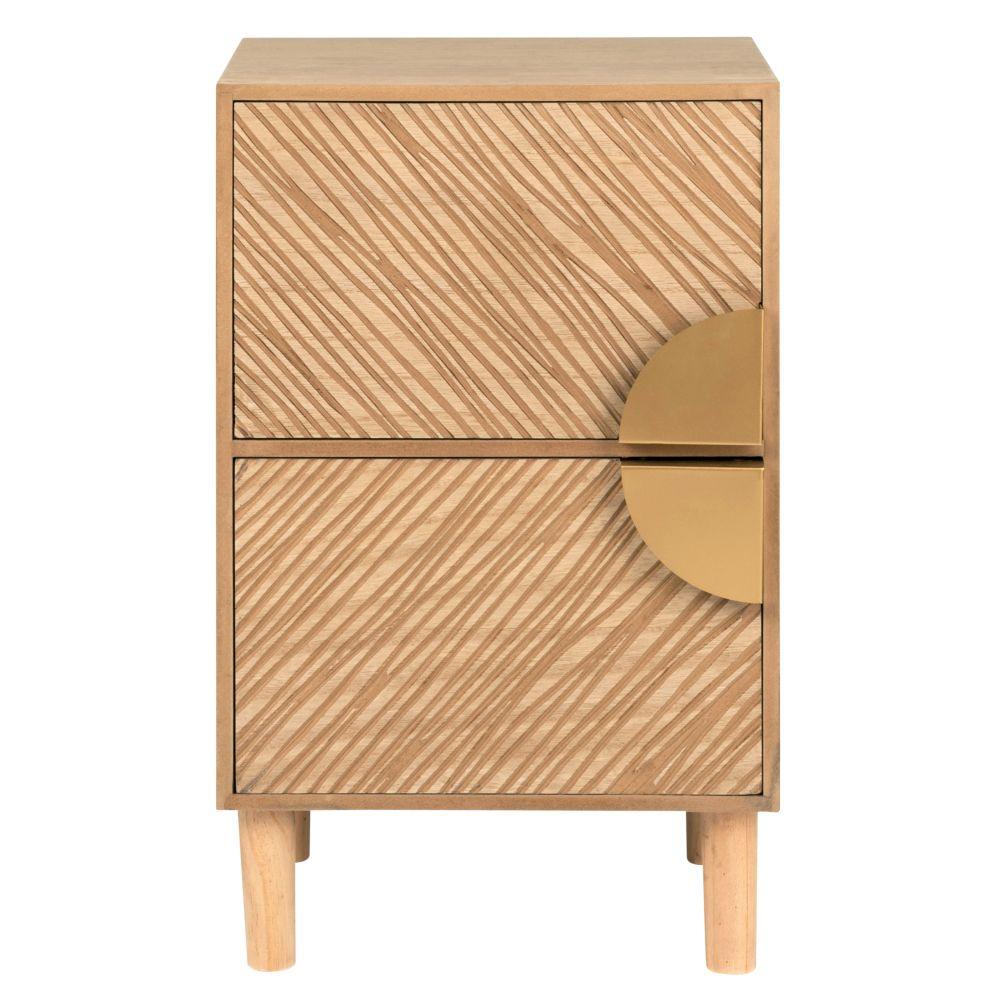 Petit meuble de rangement 2 tiroirs sculptés