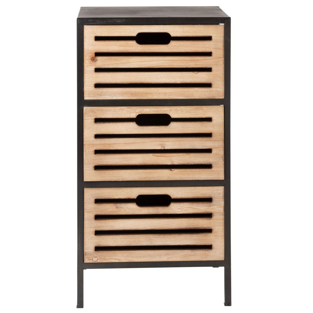 Petit meuble de rangement 3 tiroirs en métal