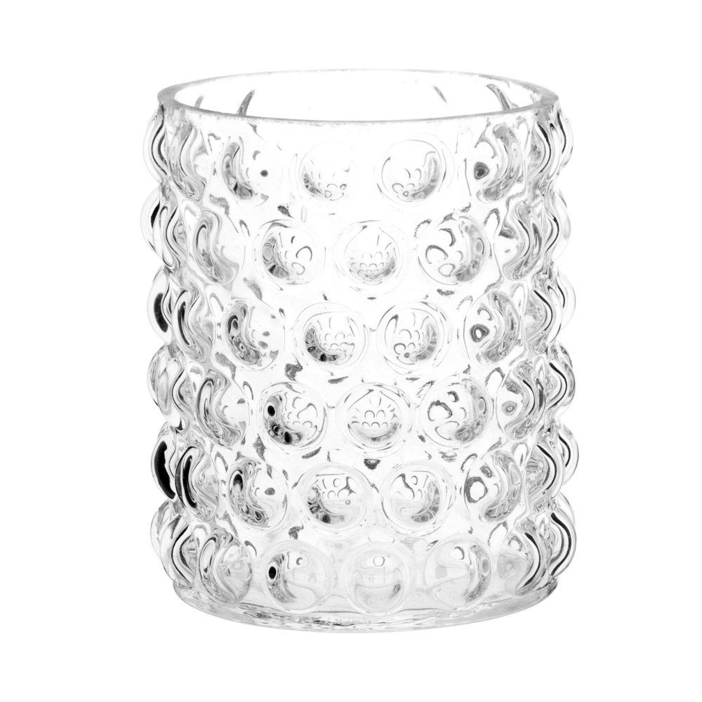Photophore en verre bullé
