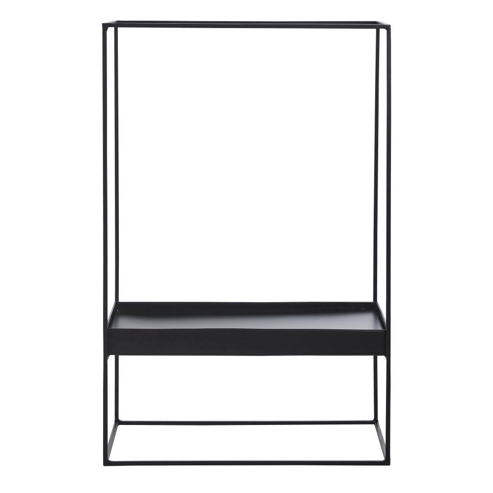 Photophore plateau pour bougies en métal noir H61