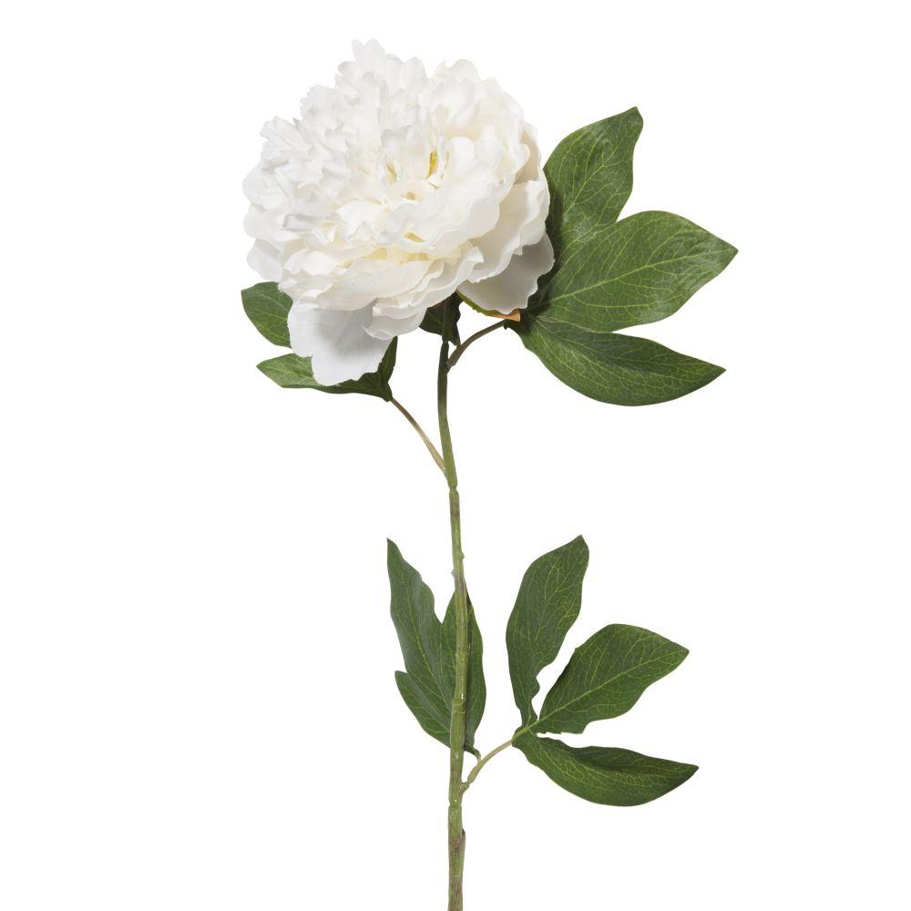 Pivoine artificielle blanche H 84 cm