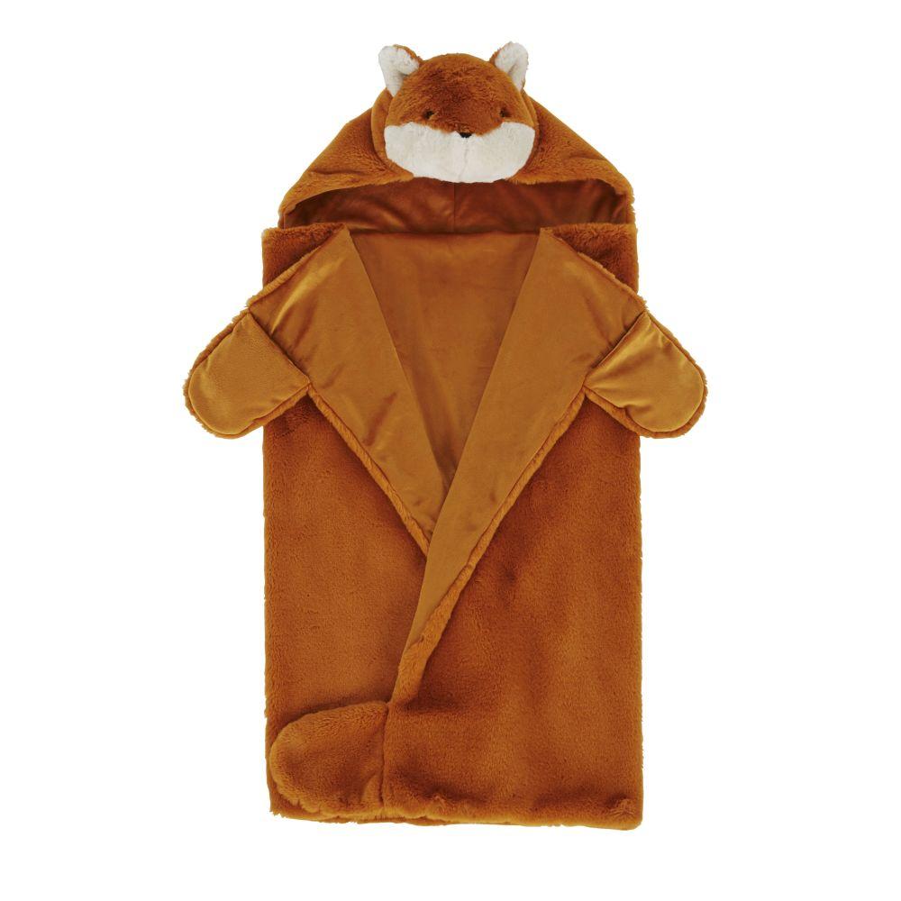 Plaid déguisement renard imitation fourrure marron