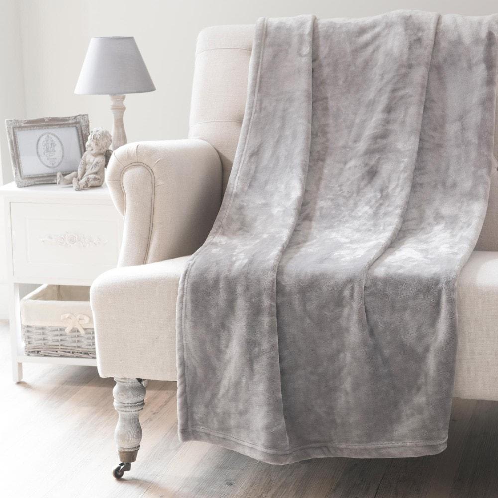 Plaid gris 150x230