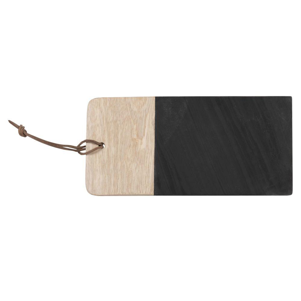 Planche à découper en ardoise noire et manguier