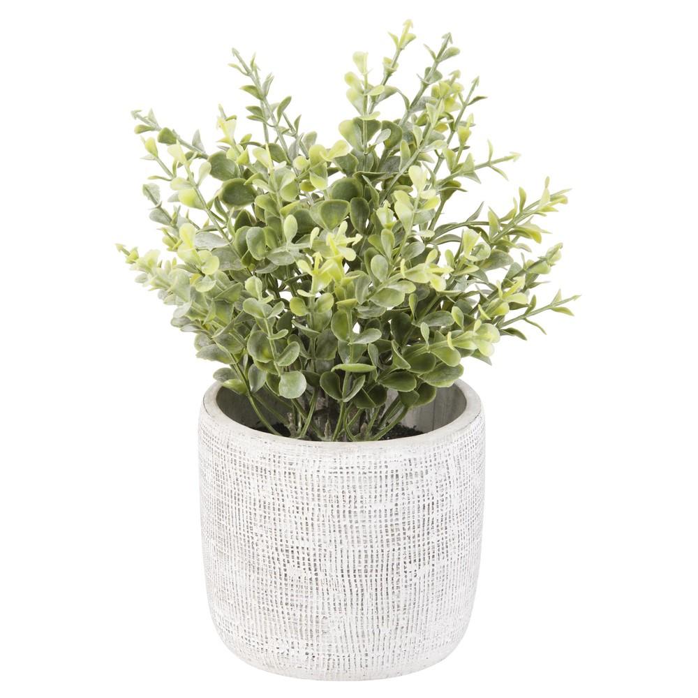 Plante artificielle pot en ciment