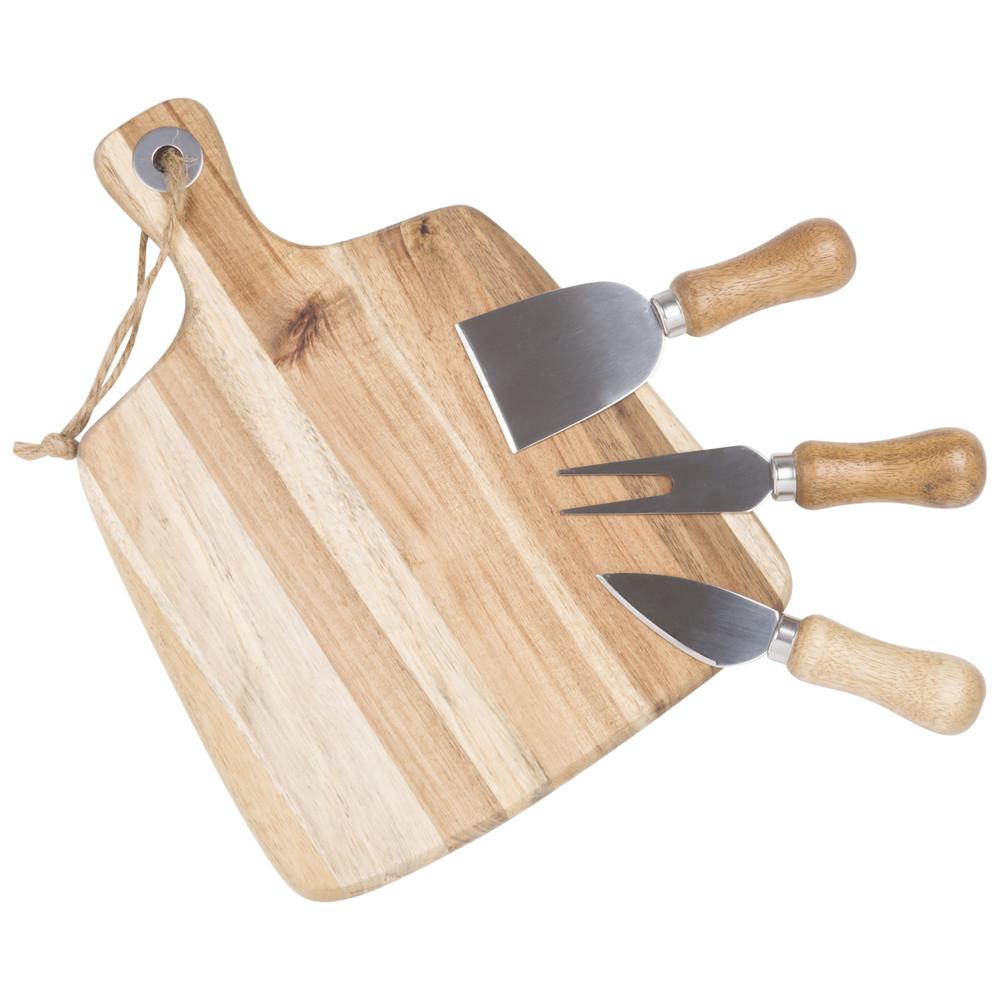 Plateau à fromages en acacia avec accessoires