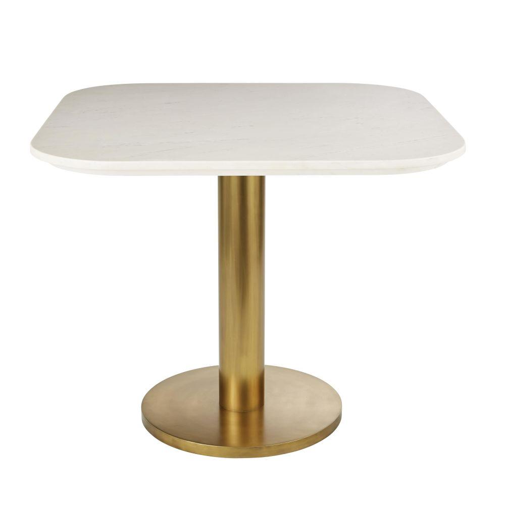Plateau de table en marbre blanc 4 personnes