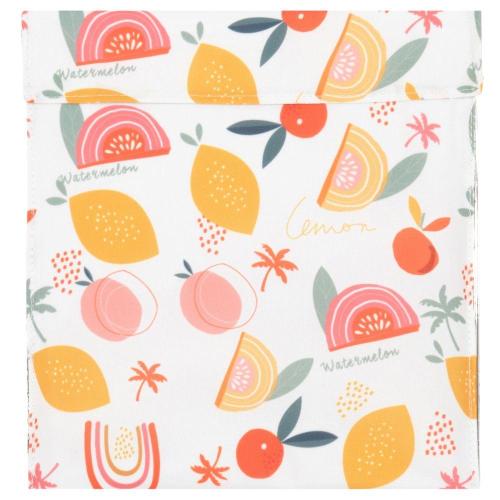 Pochette réfrigérante en aluminium motifs fruits multicolores