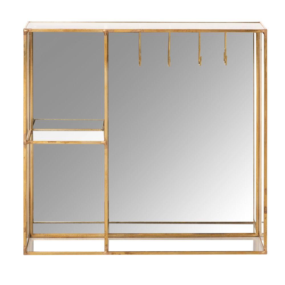 Porte-bijoux en verre et métal doré