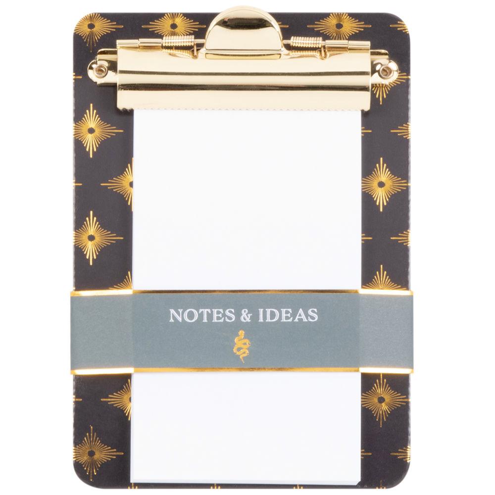 Porte bloc-notes vert à motifs et métal doré
