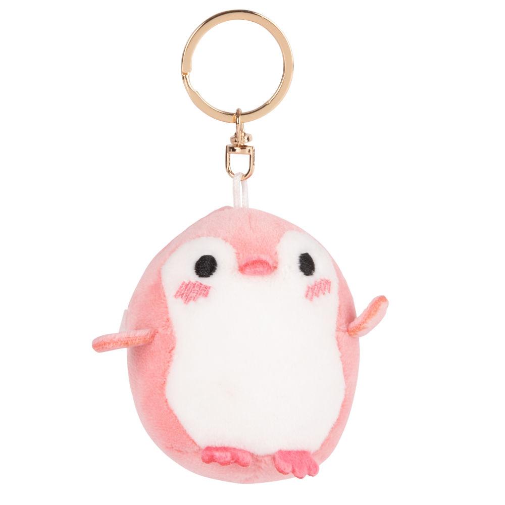 Porte-clés oiseau rose et blanc