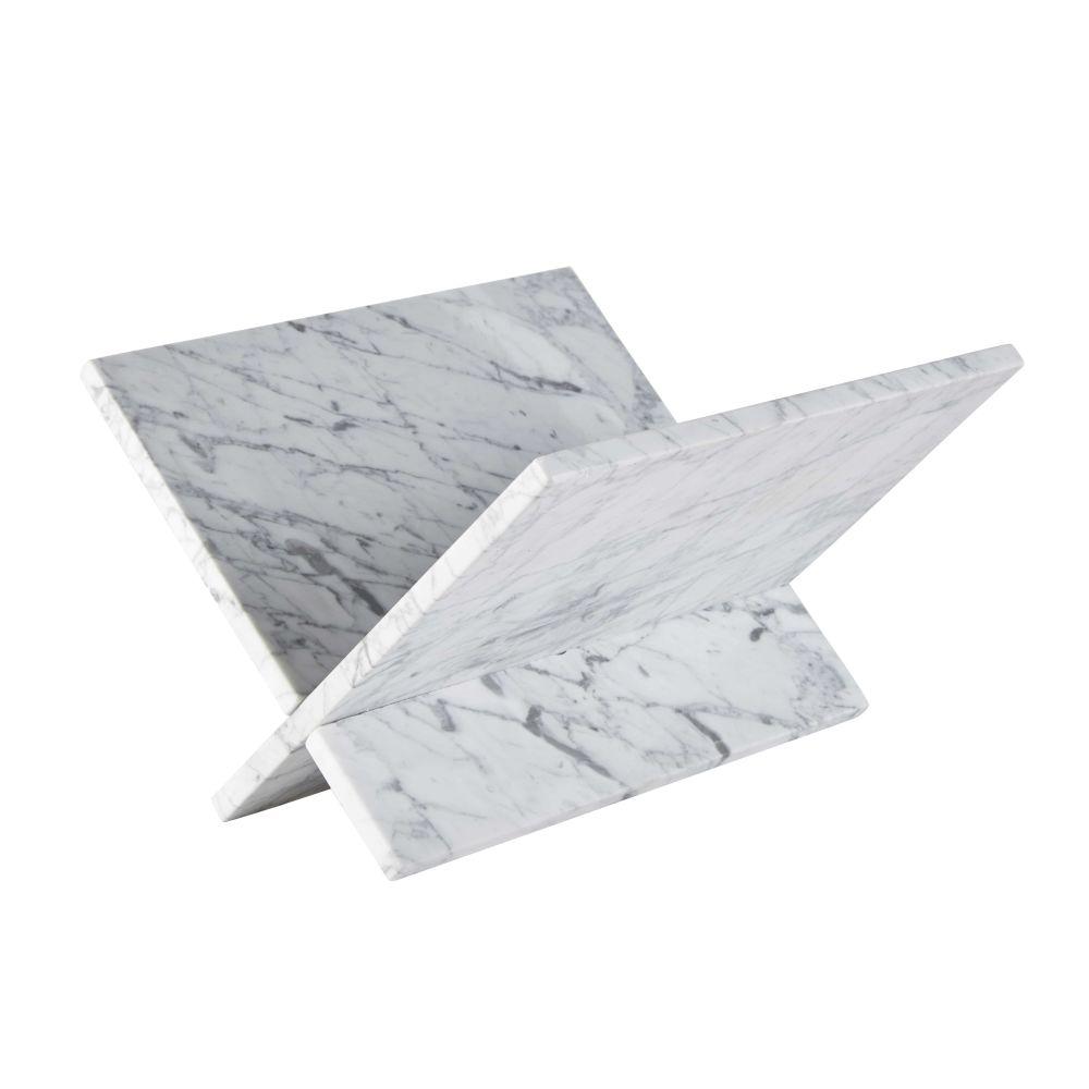 Porte-revues en marbre blanc
