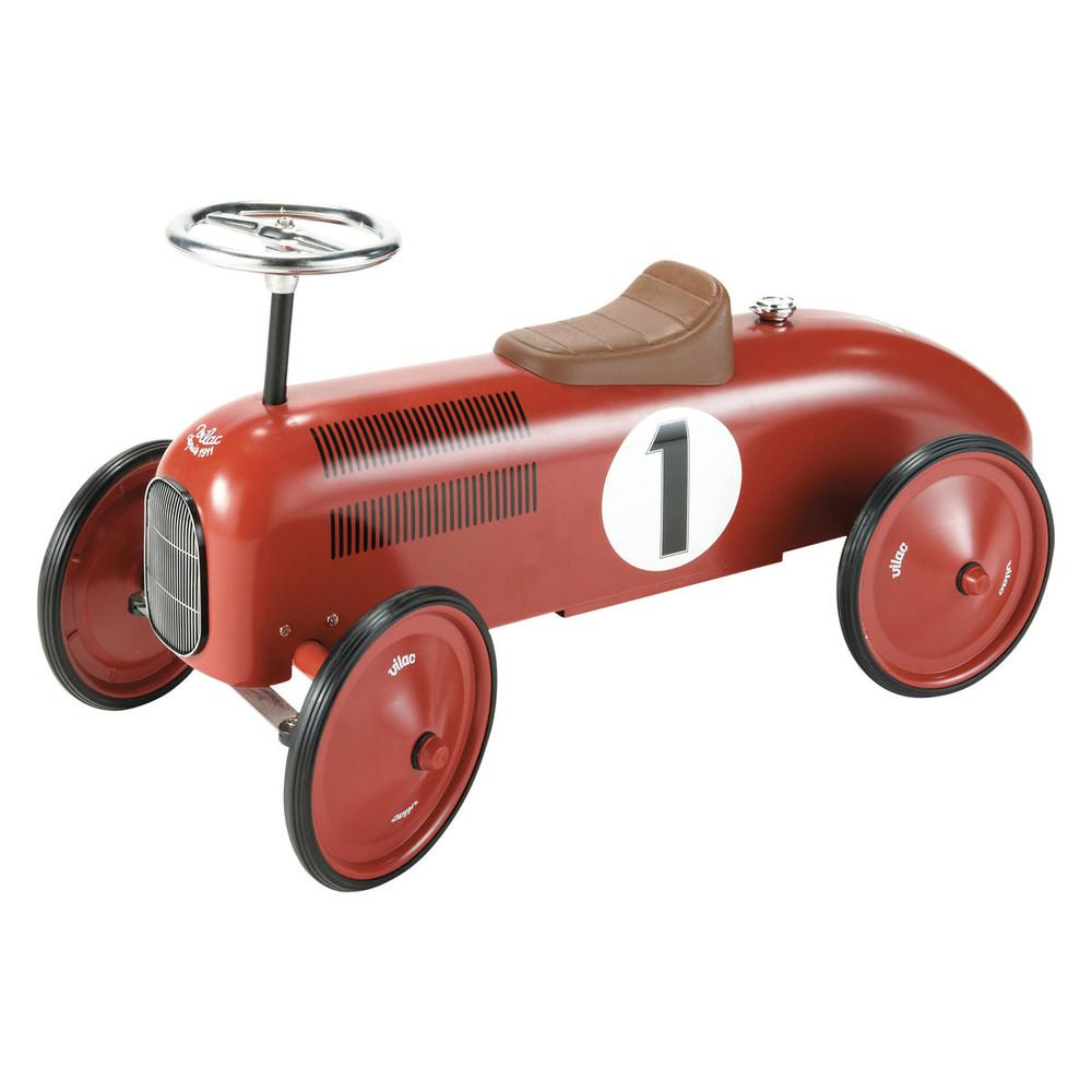 Porteur voiture en métal rouge