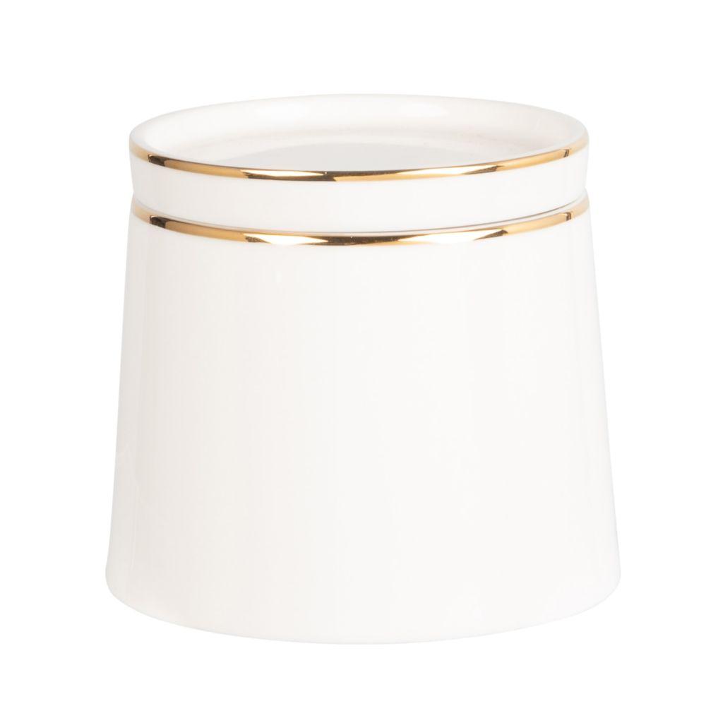 Pot à sucre en porcelaine blanche et dorée