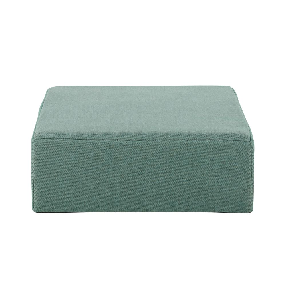 Pouf pour canapé modulable de jardin à billes en fibre oléfine vert jade (photo)