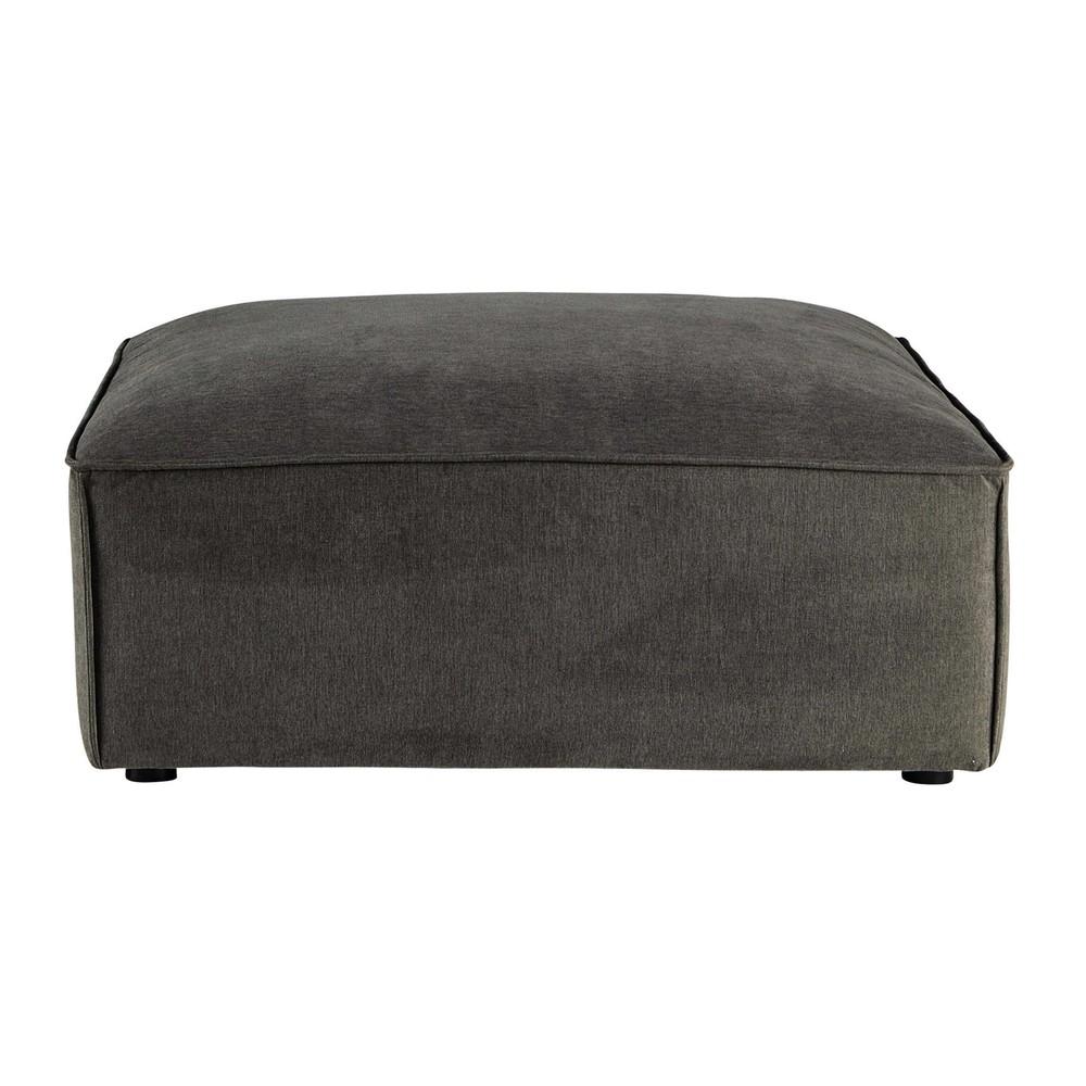 Pouf pour canapé modulable en tissu taupe grisé