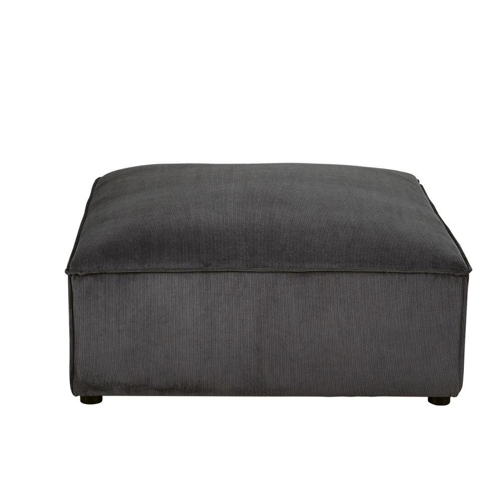 Pouf pour canapé modulable gris anthracite