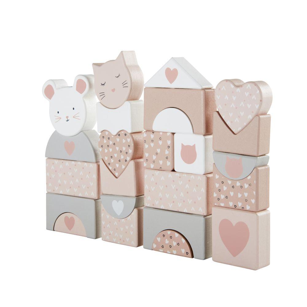 Puzzle 3D chat et souris rose, gris et blanc
