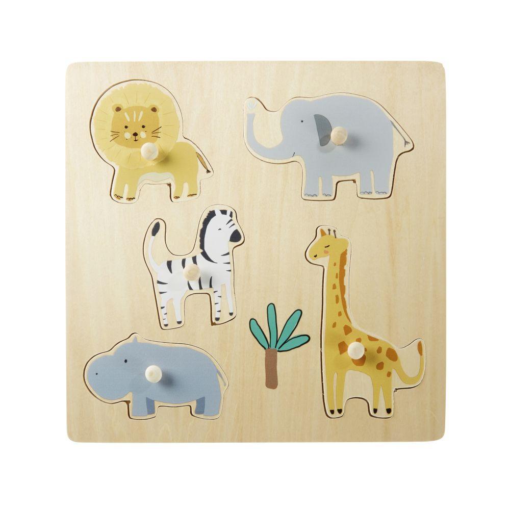 Puzzle animaux de la jungle multicolore