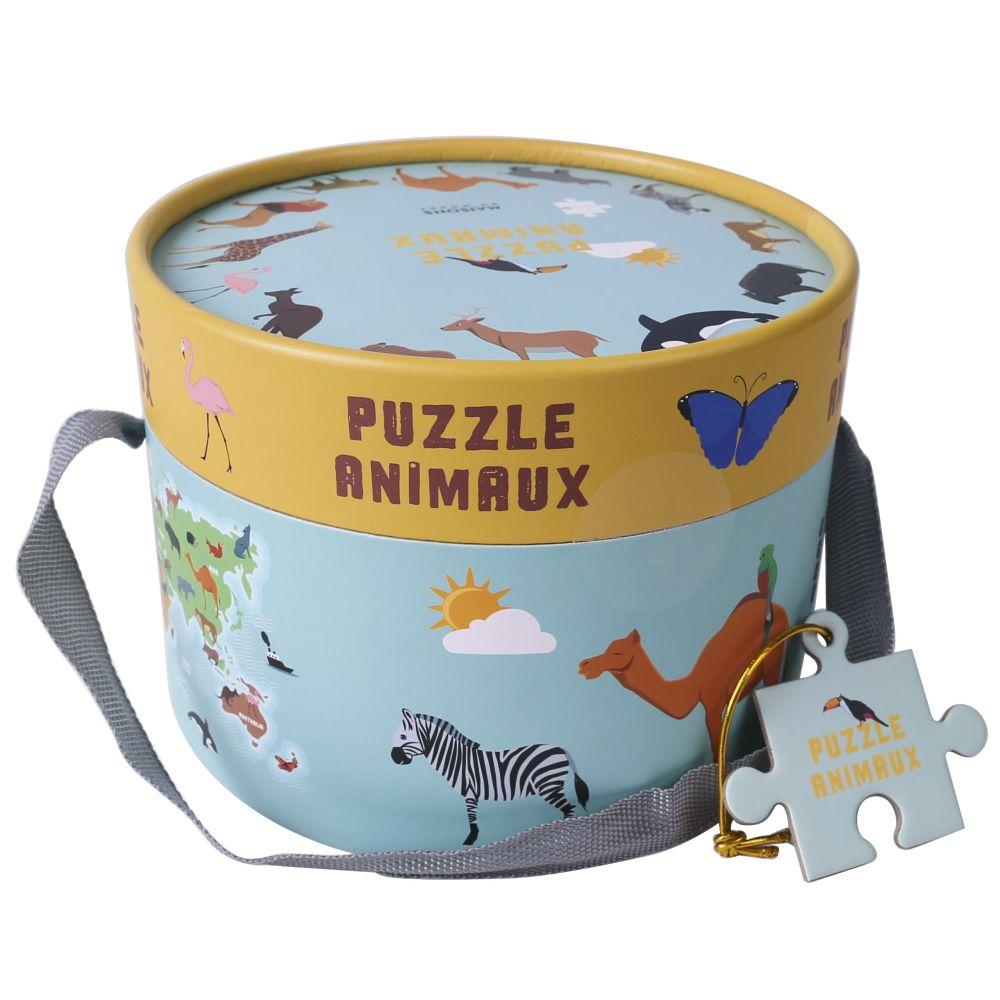Puzzle animaux multicolore