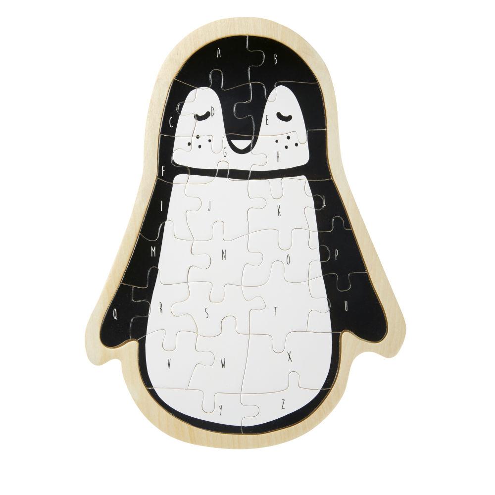 Puzzle pingouin blanc et noir