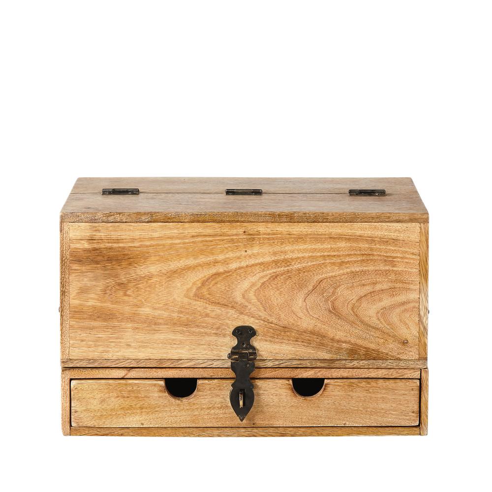Range-courrier 4 tiroirs en manguier