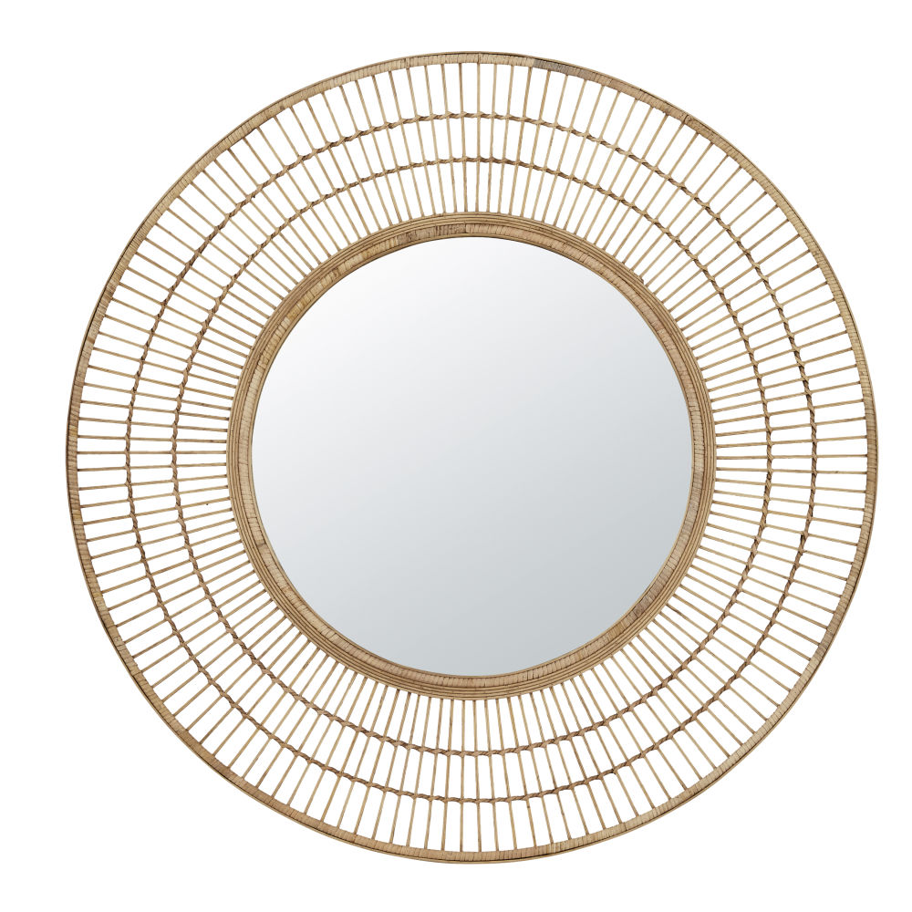 Ronde Bamboe Spiegel D99