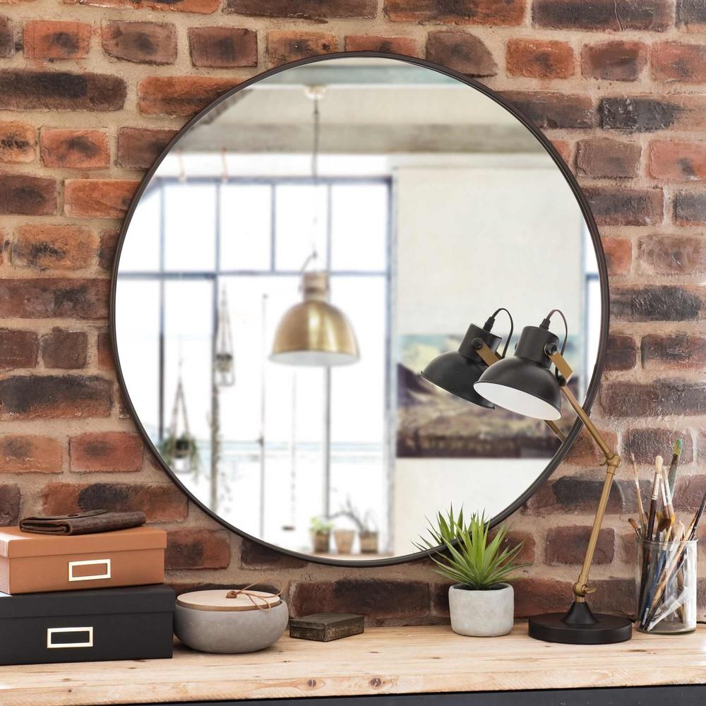 Runder Spiegel aus Metall D.81
