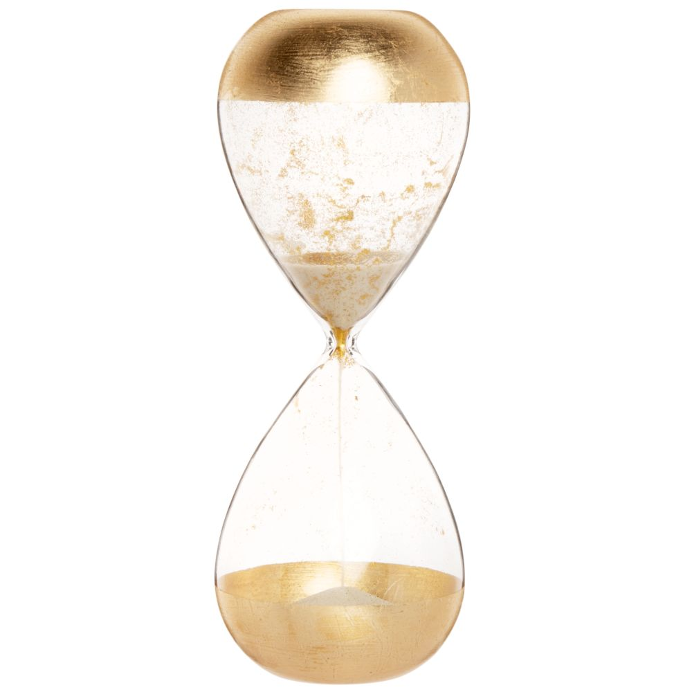 Sablier en verre teinté doré