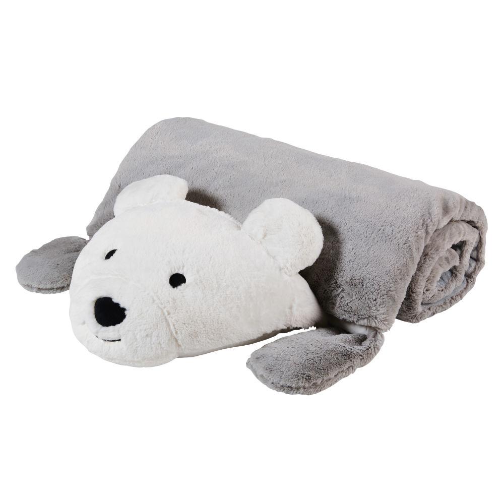 Sac de couchage enfant ours gris et blanc