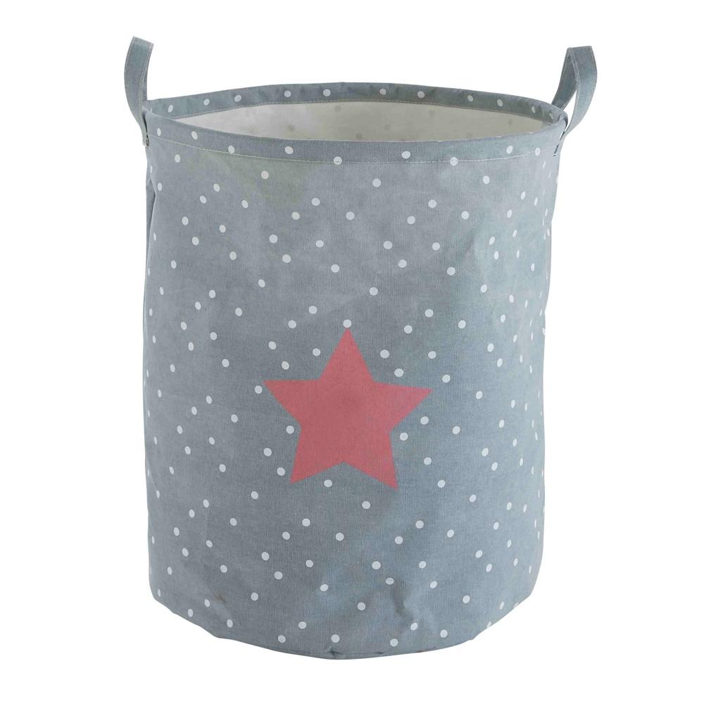 Sac de rangement gris imprimé étoiles