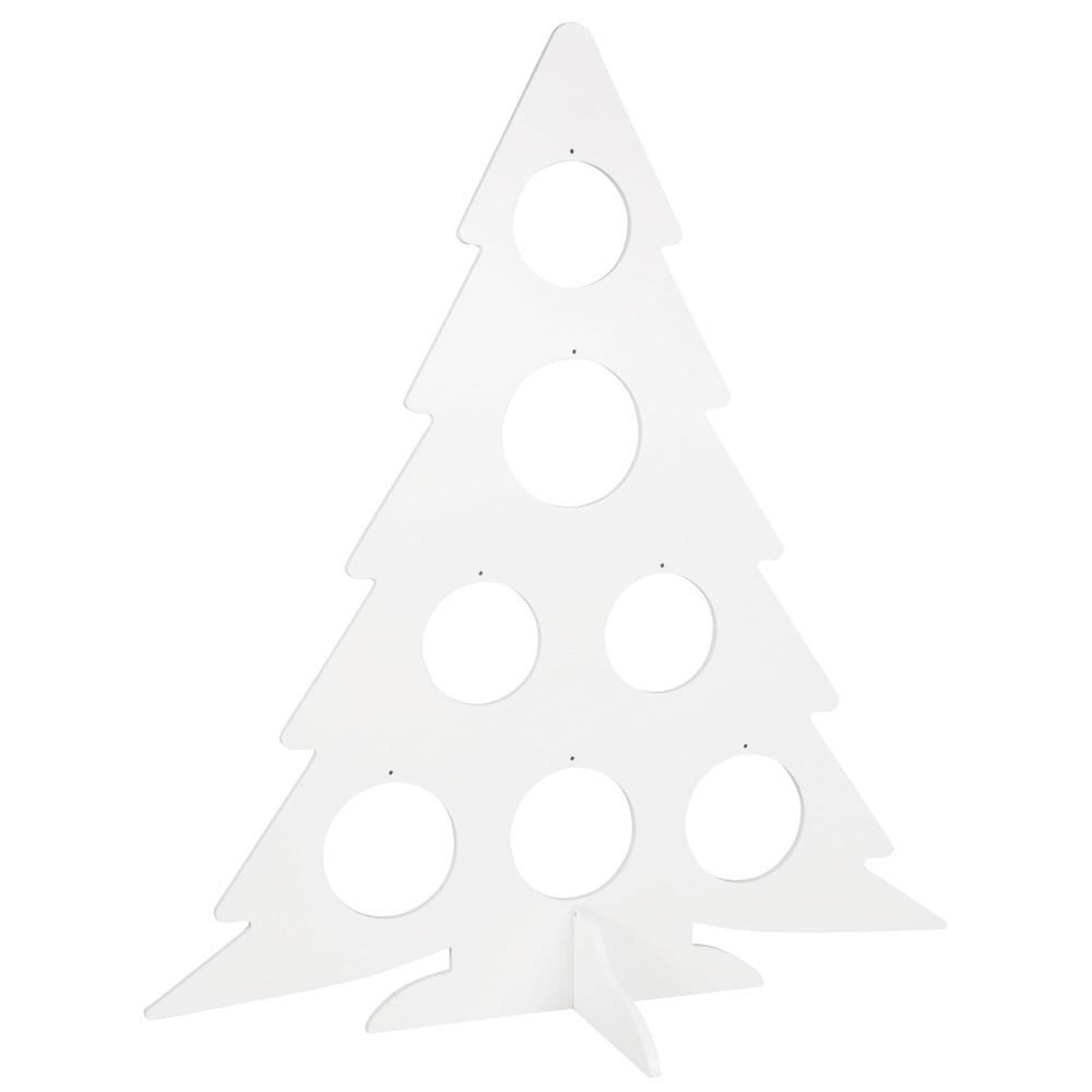 Sapin de Noël blanc H80