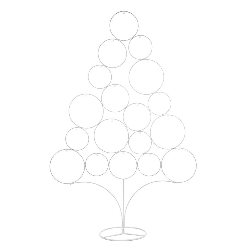 Sapin de Noël en métal blanc H95