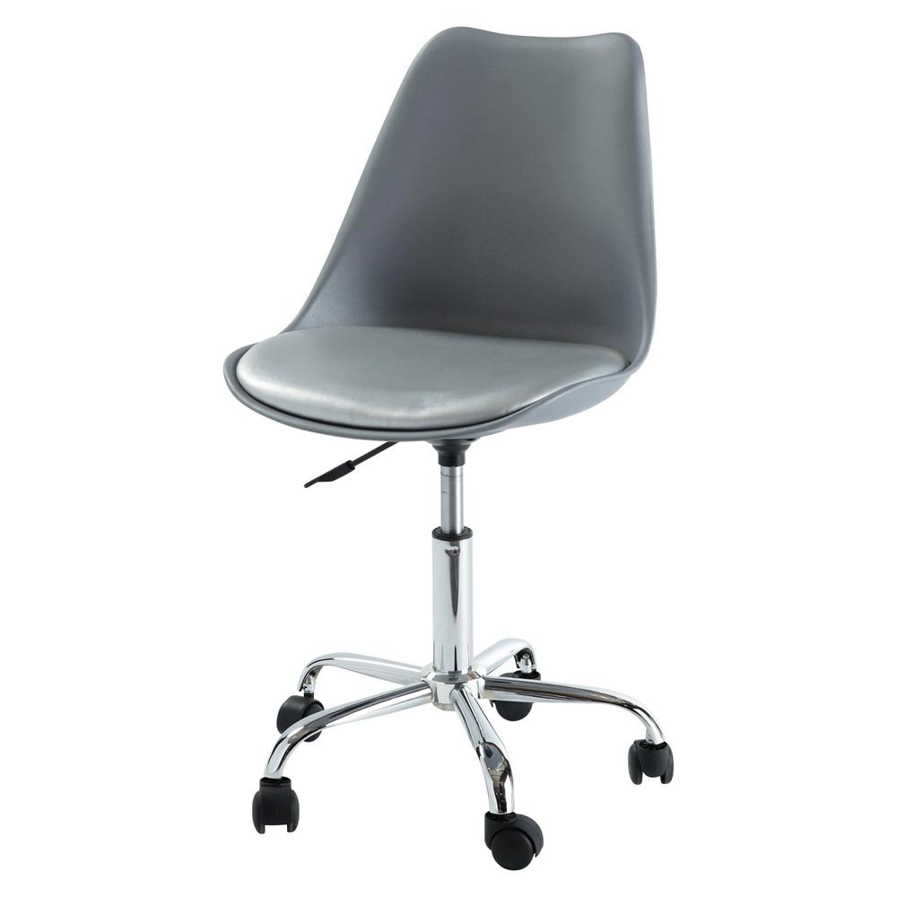 Sedia da scrivania grigia a rotelle