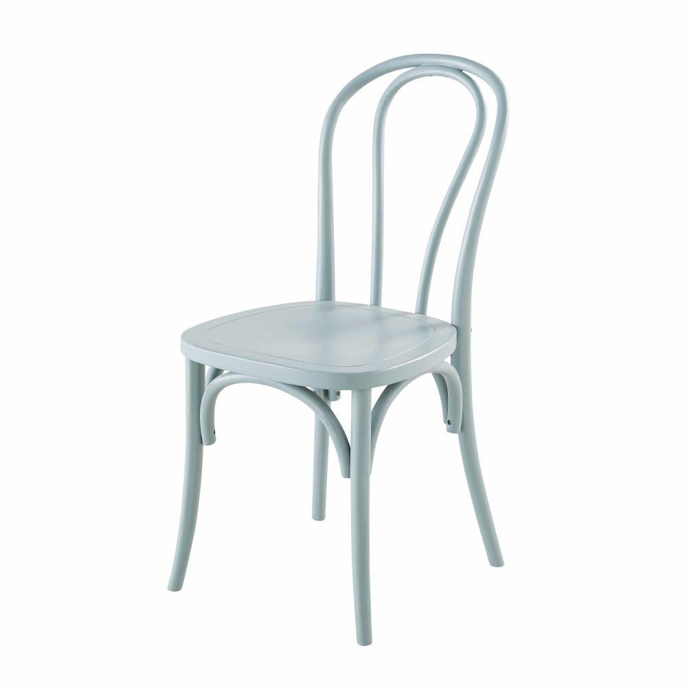Sedia in faggio blu celadon