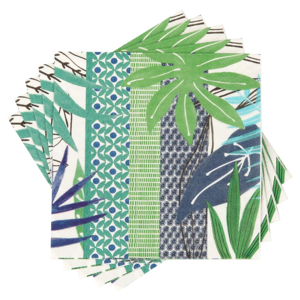 Serviettes en papier à motifs multicolores (x20)
