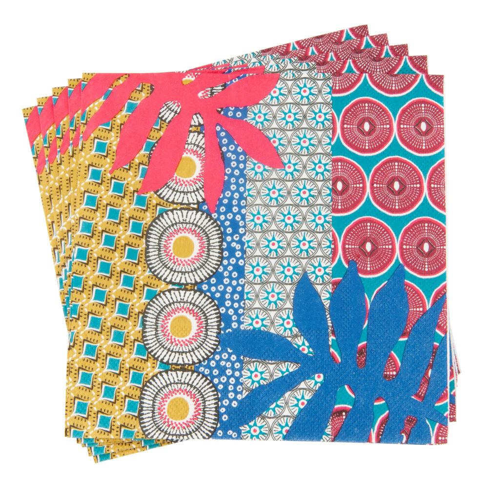 Serviettes en papier imprimé graphiques