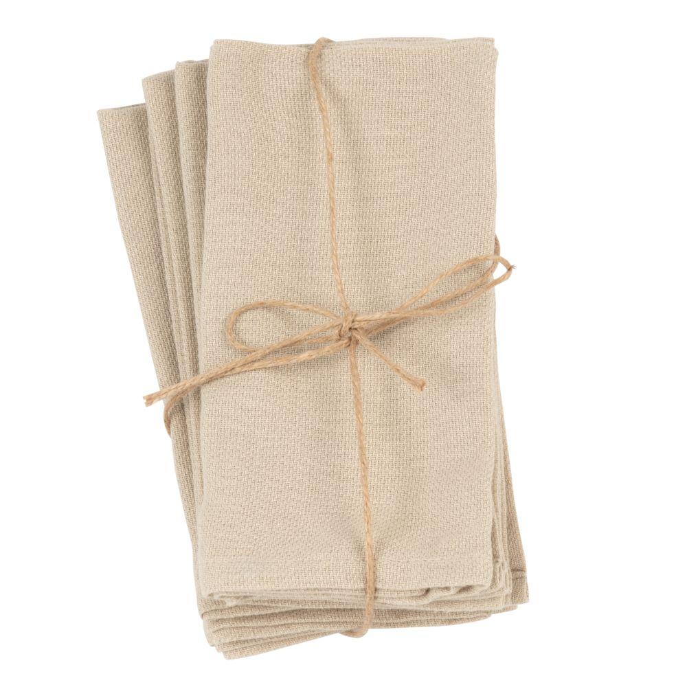 Servilletas de algodón beige (x4)