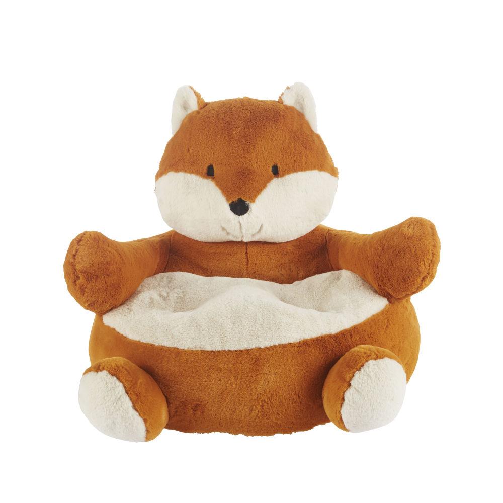 Sessel Fuchs aus Kunstfell, braun und weiß