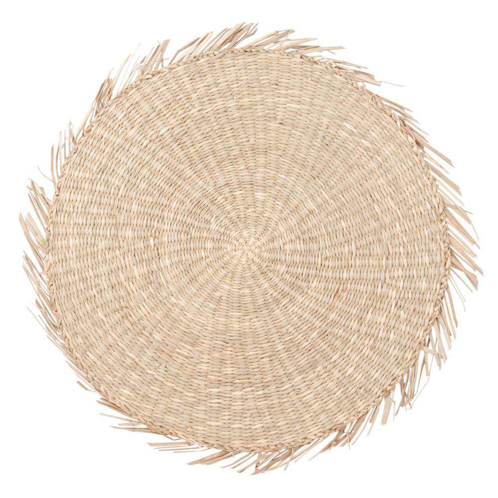 Set de table à franges en fibre végétale