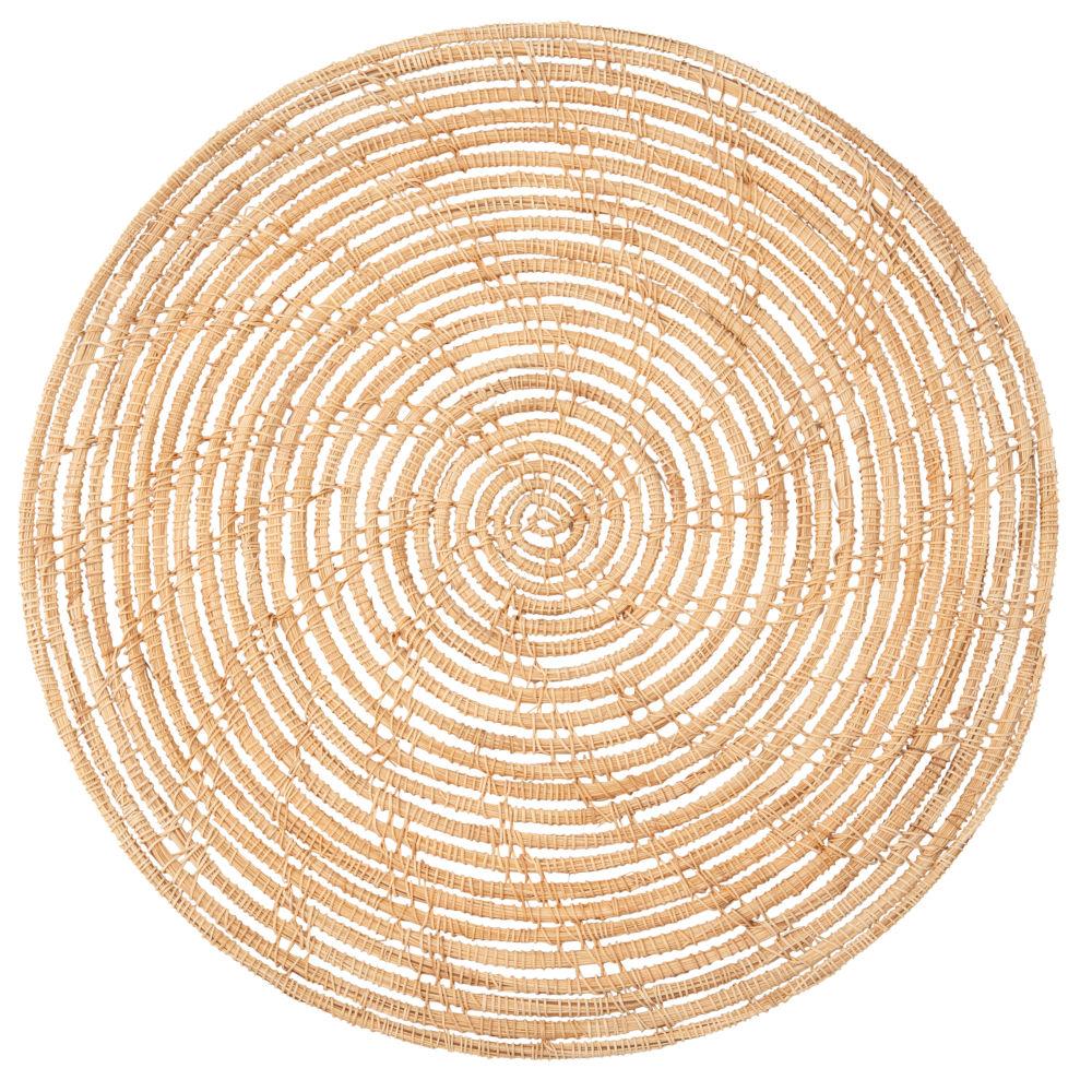Set de table ajouré en fibre de palmier tressée