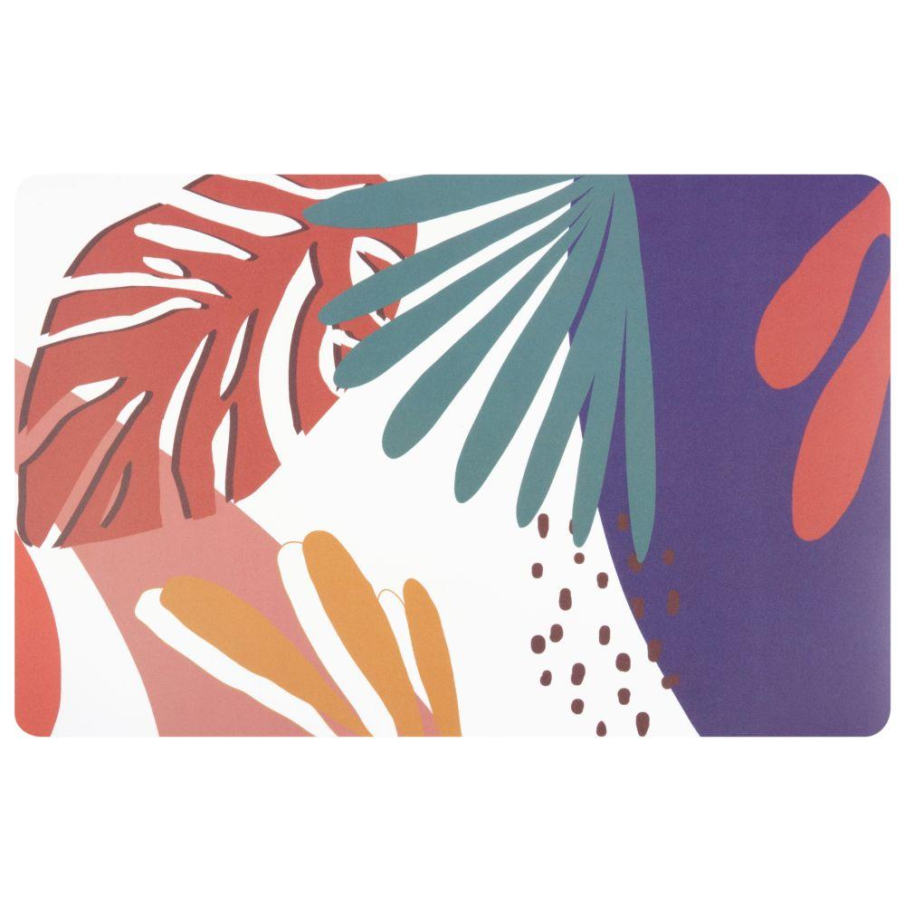 Set de table en polypropylène imprimé végétal multicolore