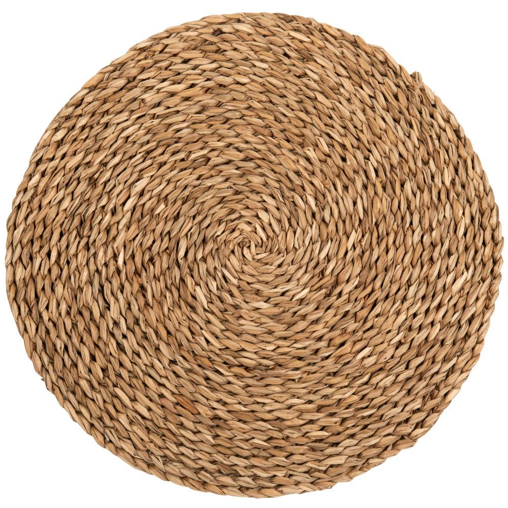 Set de table rond en fibre végétale tressée