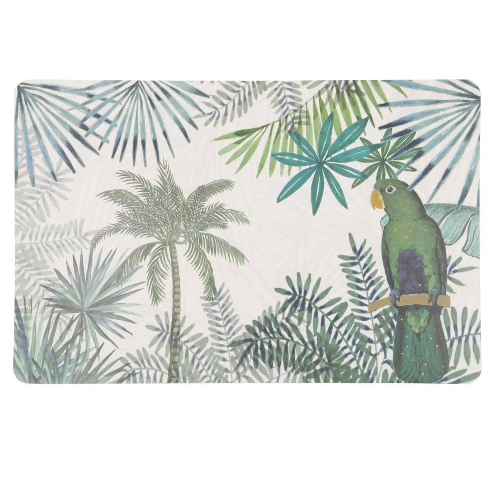 Set de table vert imprimé tropical