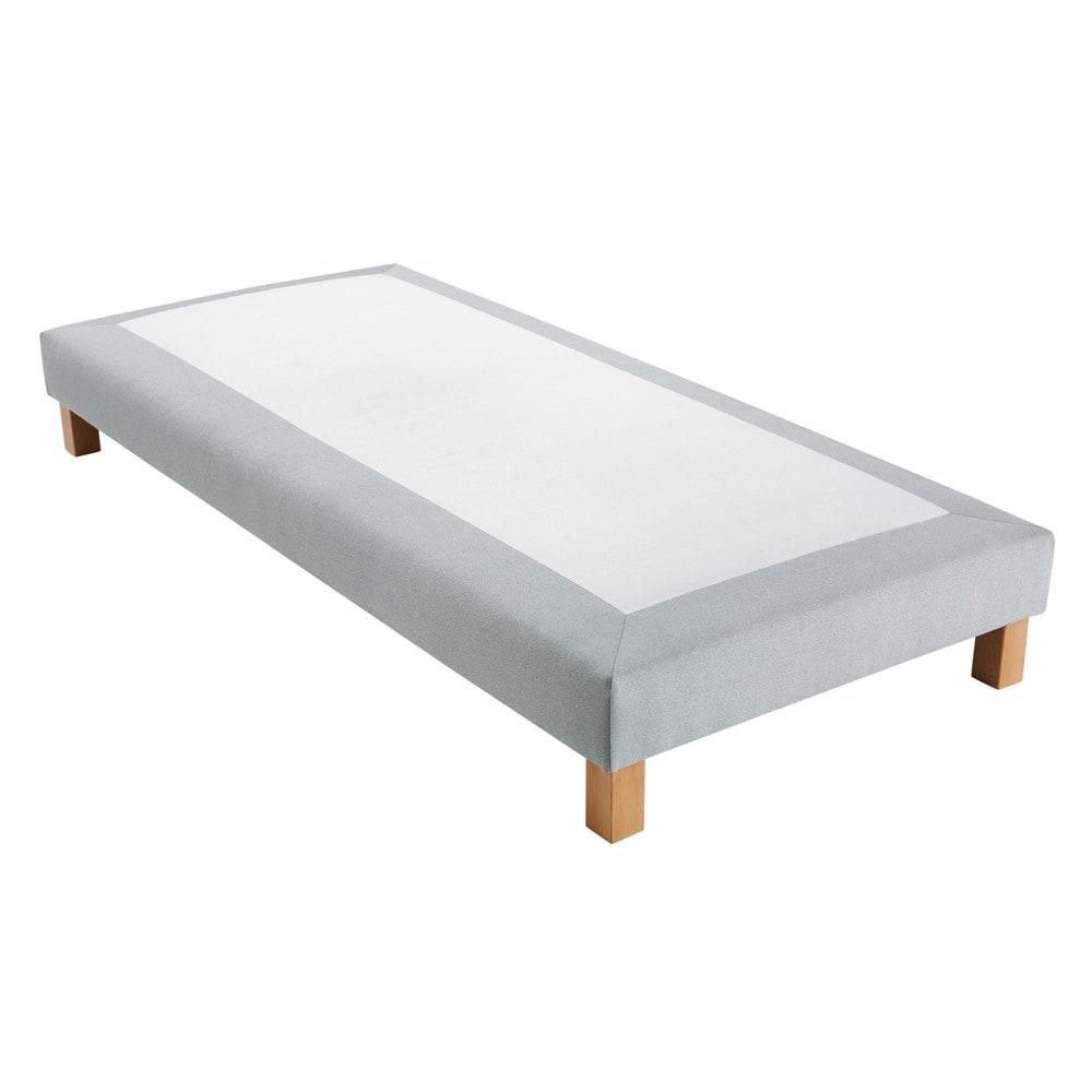 Sommier tapissier gris clair 90x200